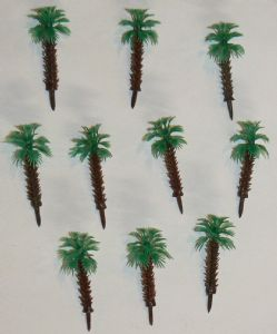 IN-301  pack of 10 palm trees, 5cm/2 Inch